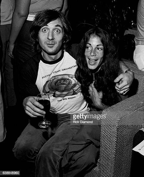 Richard Tandy of ELO and guest attend a press reception at the Peachtree Plaza in Atlanta Georgia July 06 1978