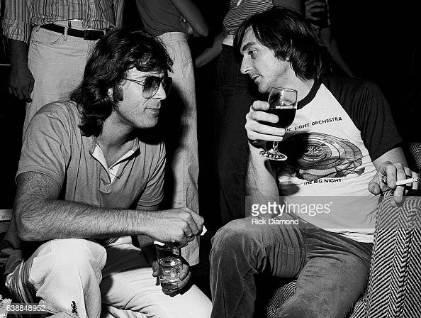 Richard Tandy of ELO and guest attend press reception at the Peachtree Plaza in Atlanta Georgia July 06 1978