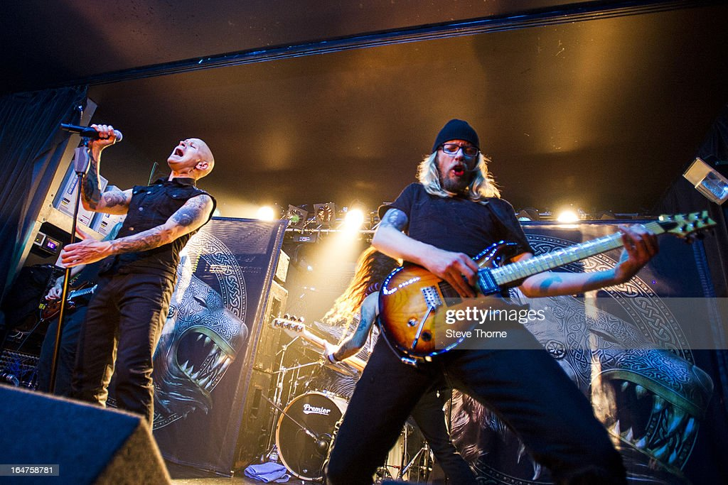 Richard Taylor and Grahame Leslie of British Lion perform on stage on March 27, 2013 in Birmingham, England.