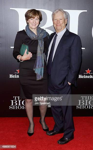 Richard Thaler and guest attend the 'The Big Short' New York premiere at Ziegfeld Theater on November 23 2015 in New York City