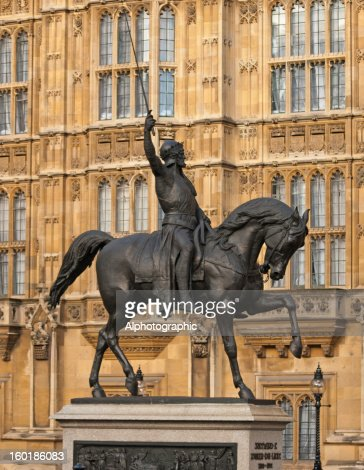 Richard the First statue : Stock Photo