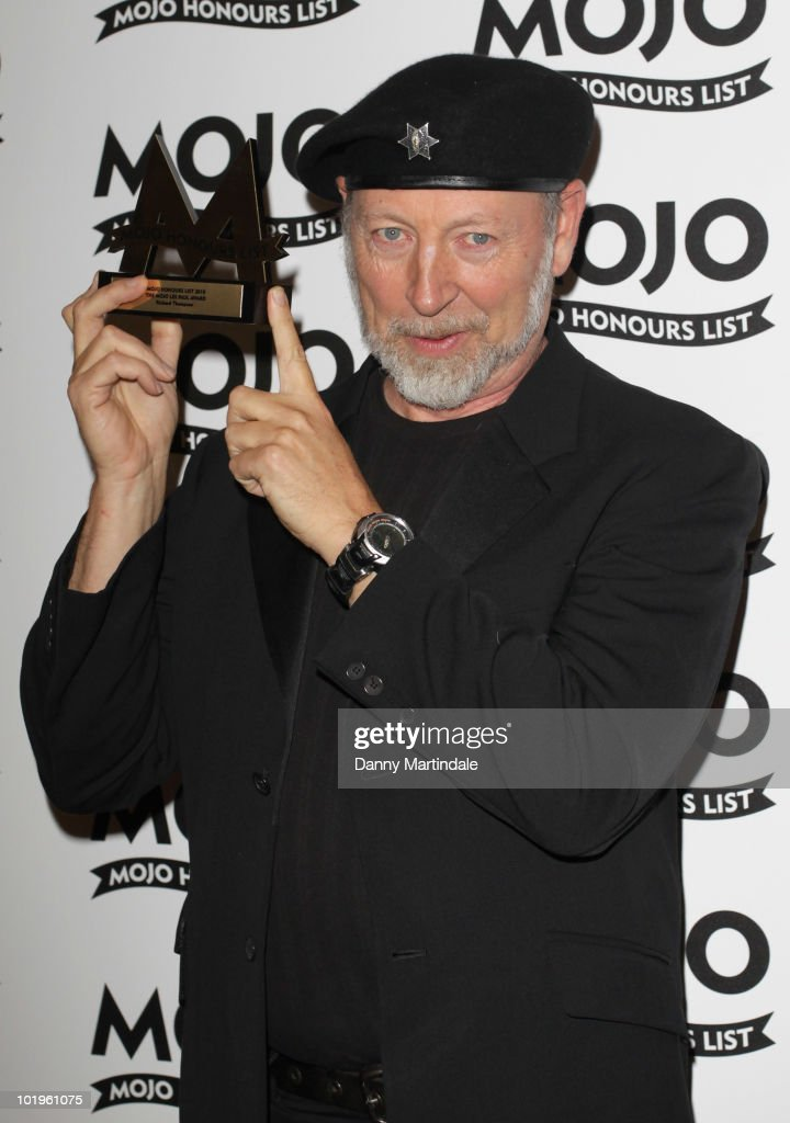 Richard Thompson with award at The Mojo Honours List at The Brewery on June 10, 2010 in London, England.