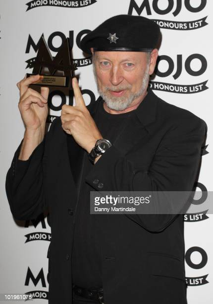 Richard Thompson with award at The Mojo Honours List at The Brewery on June 10 2010 in London England