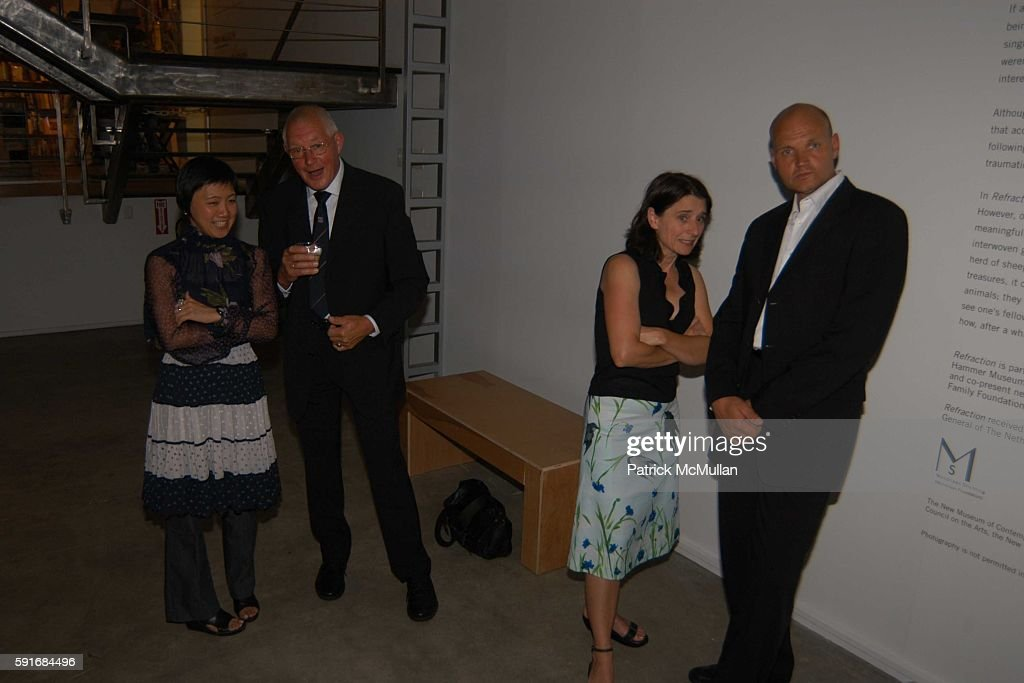 Richard Tolmin Elste Debruin and Dirik Tolmin attend New Museum Hosts Opening Reception for Aernout Mik's Refraction Rhizome Artbase 101 at New...