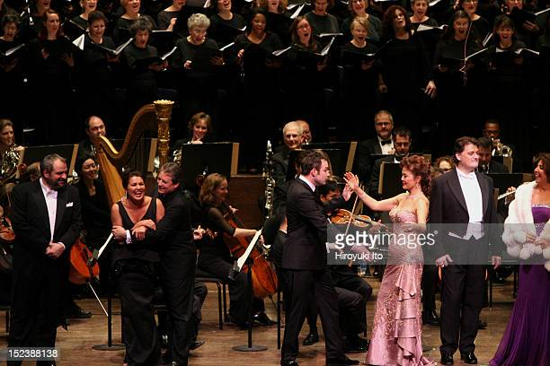 Richard Tucker Gala at Avery Fisher Hall on Sunday night November 22 2009This imageFrom left Zeljko Lucic Anna Netrebko Matthew Polenzani Stephen...