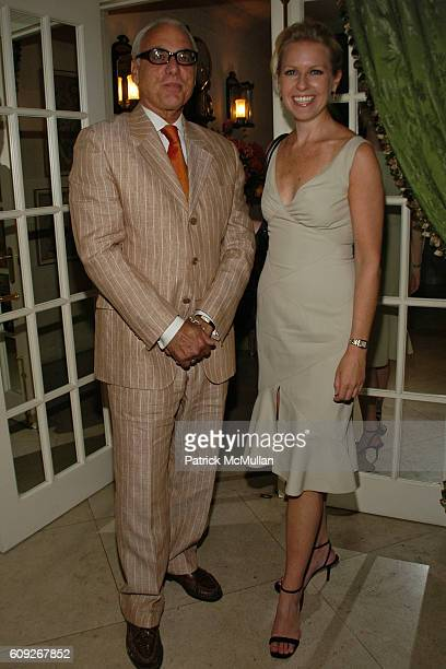 Richard Turley and Monica Crowley attend FIT COUTURE COUNCIL Cocktail Party at Charlotte Moss Residence on July 25 2007 in New York City