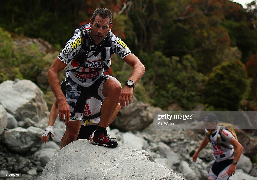 Richard Ussher of New Zealand competes in the one day individual event during the 2013 Speights Coast to Coast on February 9, 2013 in Christchurch, New Zealand.