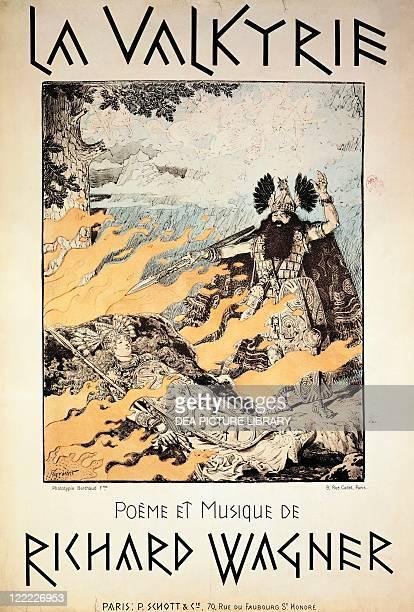 Richard Wagner Der Ring des Nibelungen Die Walkure Poster by Grasset 1893