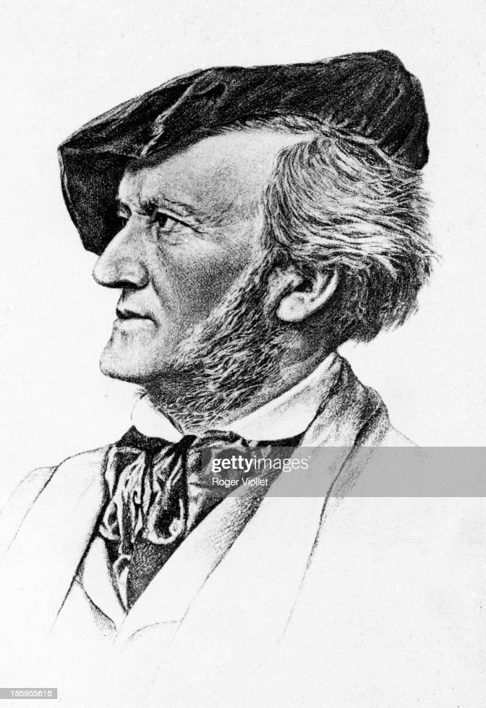 <a gi-track='captionPersonalityLinkClicked' href=/galleries/search?phrase=Richard+Wagner+-+Composer&family=editorial&specificpeople=118790 ng-click='$event.stopPropagation()'>Richard Wagner</a> (1813-1883), German composer, circa 1870. Lithograph.