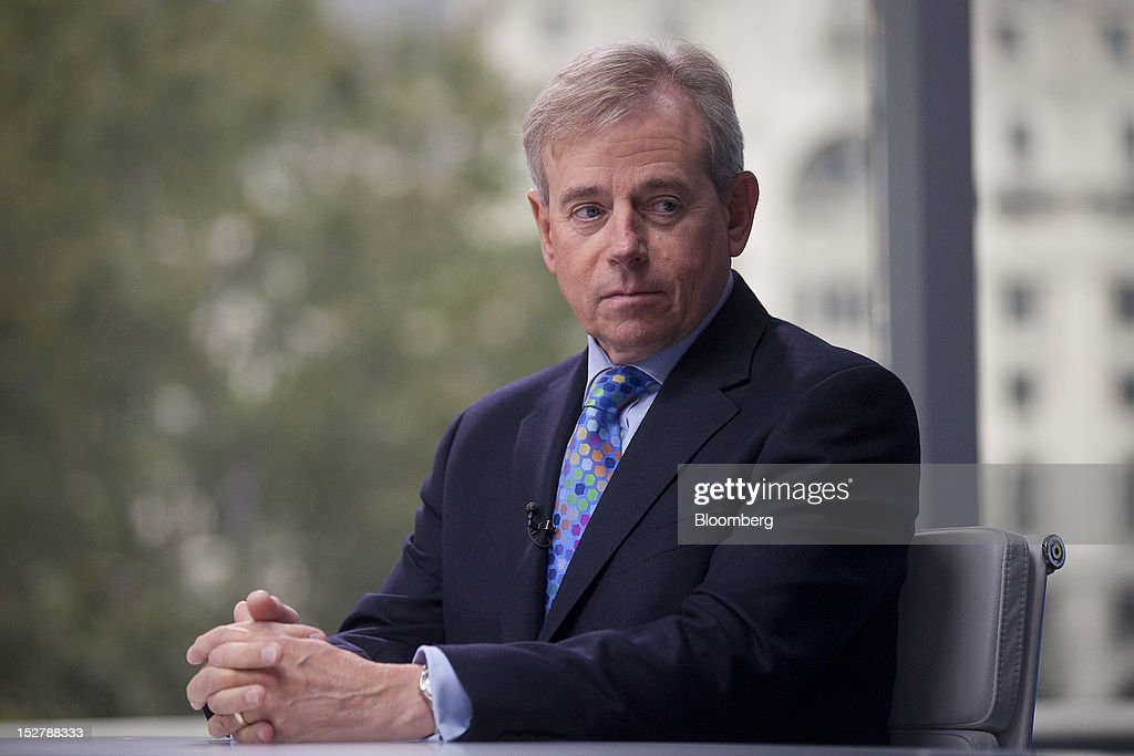 Richard Ward, chief executive officer of Lloyds of London Ltd, pauses during a Bloomberg Television interview in London, U.K., on Wednesday, Sept. 26, 2012. Lloyd's of London, the world's oldest insurance market, announced a profit of £1.53bn ($2.4bn) for the six-month period ending June 2012. Photographer: Simon Dawson/Bloomberg via Getty Images