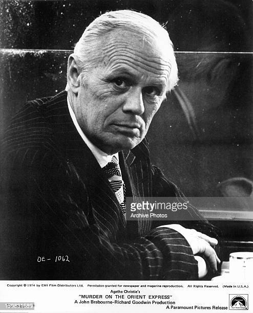 Richard Widmark in a scene from the film 'Murder On The Orient Express' 1974