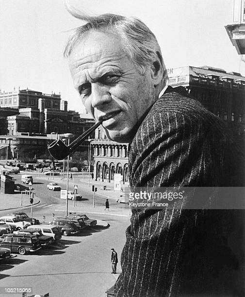 Richard Widmark Protagonist Of The Movie 'L'Homme Aux Colts D'Or' aka 'Warlock'