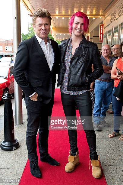 Richard Wilkins and Christian Wilkins arrive at 'The Book Thief' special screening at Randwick Ritz Cinema on January 7 2014 in Sydney Australia