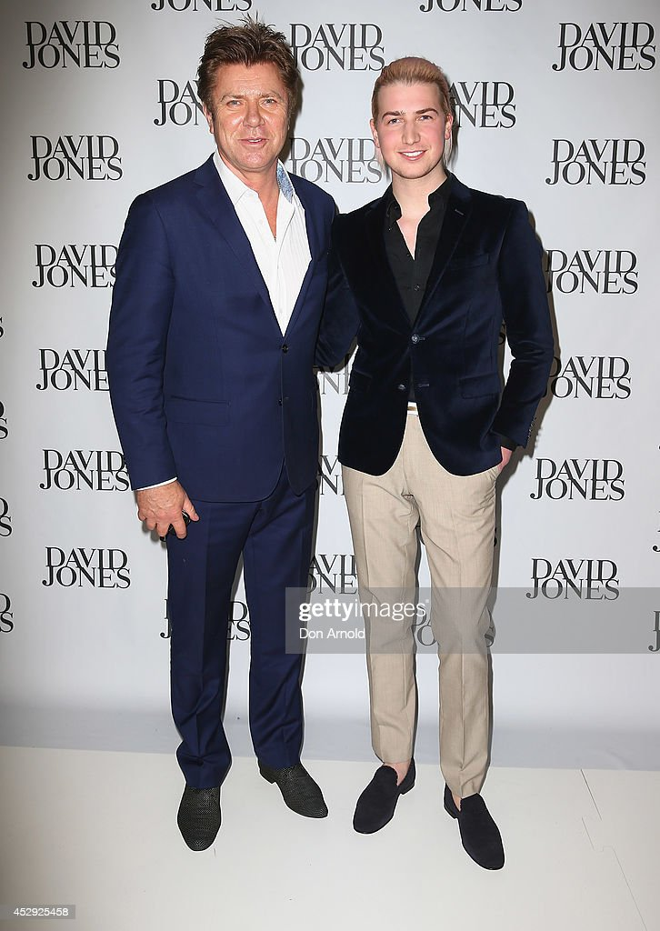 <a gi-track='captionPersonalityLinkClicked' href=/galleries/search?phrase=Richard+Wilkins&family=editorial&specificpeople=211273 ng-click='$event.stopPropagation()'>Richard Wilkins</a> and Christian Wilkins arrive at the David Jones Spring/Summer 2014 Collection Launch at David Jones Elizabeth Street Store on July 30, 2014 in Sydney, Australia.