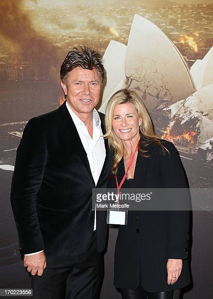Richard Wilkins and Deborah Hutton arrive at the 'World War Z' Australian Premiere at the Star on June 9 2013 in Sydney Australia