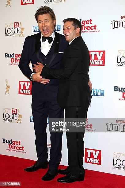 Richard Wilkins and Karl Stefanovic arrive at the 57th Annual Logie Awards at Crown Palladium on May 3 2015 in Melbourne Australia