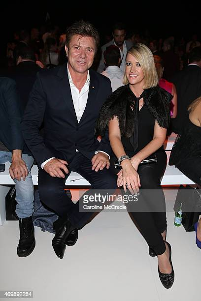 Richard Wilkins and Leila McKinnon arrive at the Johanna Johnson Presented By Capitol Grand show at MercedesBenz Fashion Week Australia 2015 at...