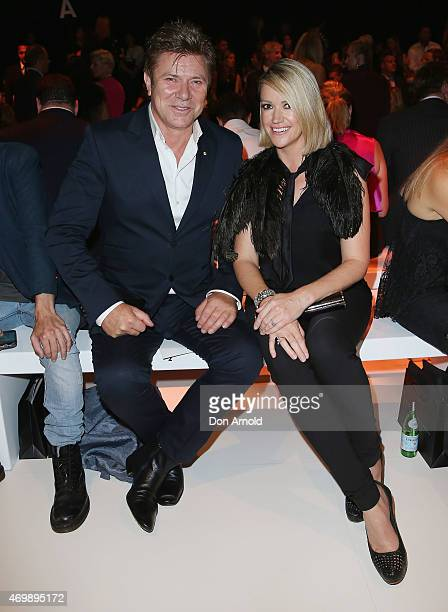 Richard Wilkins and Leila McKinnon sit front row at the Johanna Johnson Presented By Capitol Grand show at MercedesBenz Fashion Week Australia 2015...