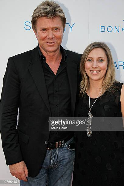 Richard Wilkins and Rebecca Wilkins arrive for an exclusive Bon Jovi concert at Star City on December 15 2010 in Sydney Australia