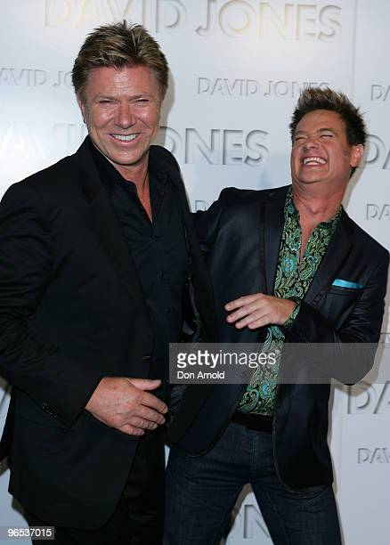 Richard Wilkins and Richard Reid arrive on the red carpet for the David Jones Autumn/Winter 2010 Fashion Launch at at Hordern Pavilion on February 10...
