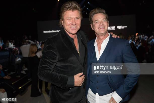 Richard Wilkins and Richard Reid attend the Justin Cassin show at MercedesBenz Fashion Week Resort 18 Collections at Carriageworks on May 15 2017 in...