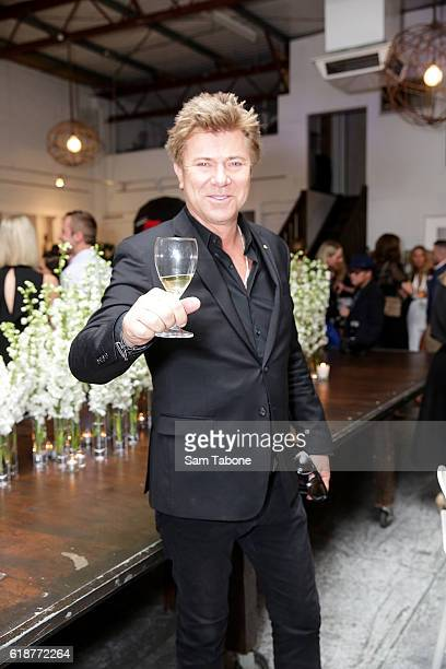 Richard Wilkins arrives ahead of Lisa Wilkinson's 'Women of Influence' photographic exhibition at SmartArtz Gallery on October 28 2016 in Melbourne...