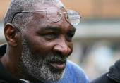 Richard Williams father of tennis stars Serena and Venus Williams of USA is seen during day two of the Wimbledon Lawn Tennis Championships at the All...