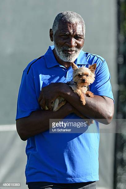 Richard Williams is seen at Sony Open Tennis at Crandon Park Tennis Center on March 25 2014 in Key Biscayne Florida