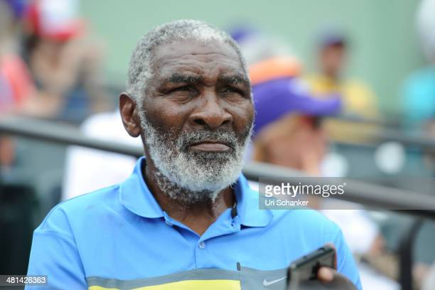 Richard Williams is seen at the Sony Open Tennis tournament at Crandon Park Tennis Center on March 29 2014 in Key Biscayne Florida