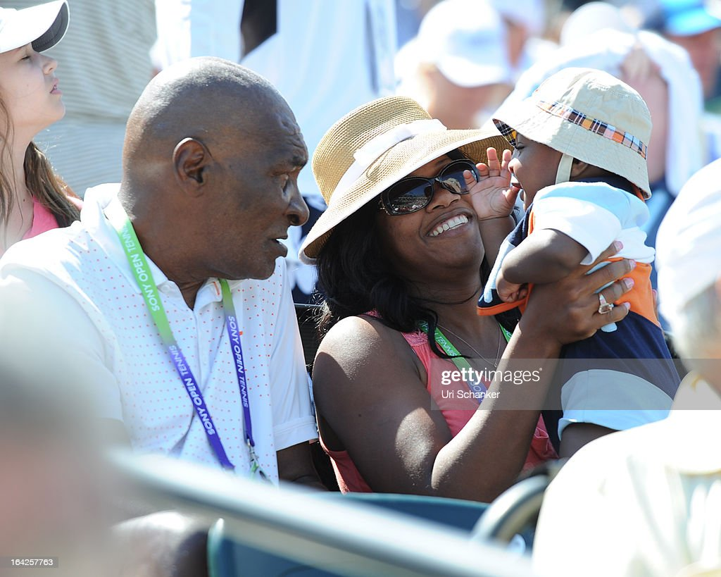 Richard Williams, Lakeisha Williams and their son Dylan Starr Richard Williams are sighted at the Sony Tennis Open 2013 at Crandon Park Tennis Center on March 21, 2013 in Key Biscayne, Florida.