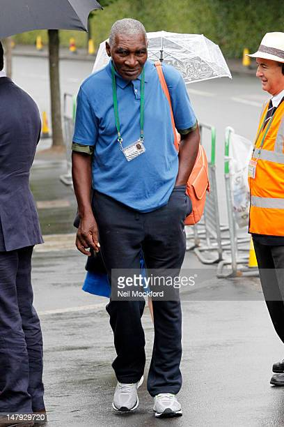 Richard Williams seen arriving at Wimbledon Tennis Championship for Men's SemiFinal day on July 6 2012 in London England