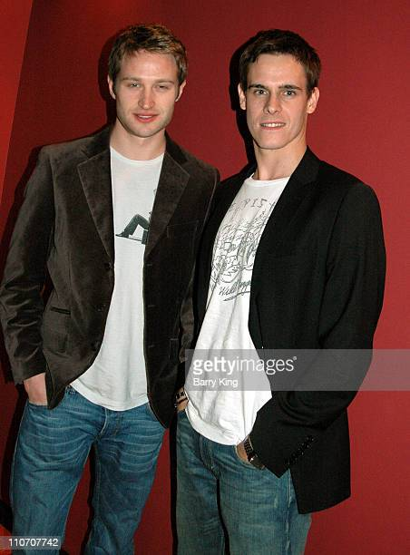 Richard Winsor and Sam Archer during American Cinematheque Screening of Tim Burton's 'Edward Scissorhands' and QA with Matthew Bourne and Caroline...