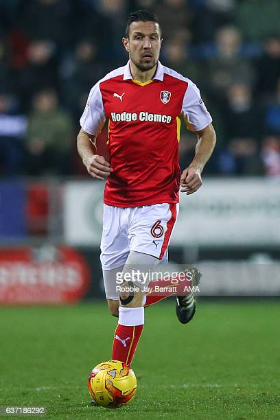 Richard Wood of Rotherham United during the Sky Bet Championship match between Rotherham United and Burton Albion at The New York Stadium on December...