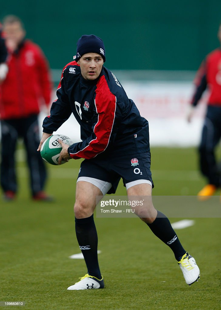 Richard Wrigglesworth of England in action during the England Saxons training session at Maidenhead Rugby Ground on January 22, 2013 in Guildford, England.