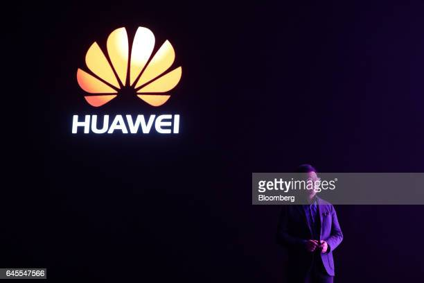 Richard Yu chief executive officer of Huawei Technologies Co Ltd speaks during the launch of the P10 P10 Plus smartphones and Huawei Watch 2...