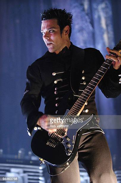 Richard Z Kruspe from Rammstein performs live on stage at Ahoy Rotterdam Holland on November 04 2004
