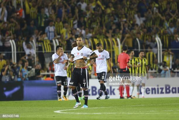 Richardo Quaresma Medel and Pepe of Besiktas reacts during the Turkish Super Lig week 6 soccer match between Fenerbahce and Besiktas at Ulker Stadium...