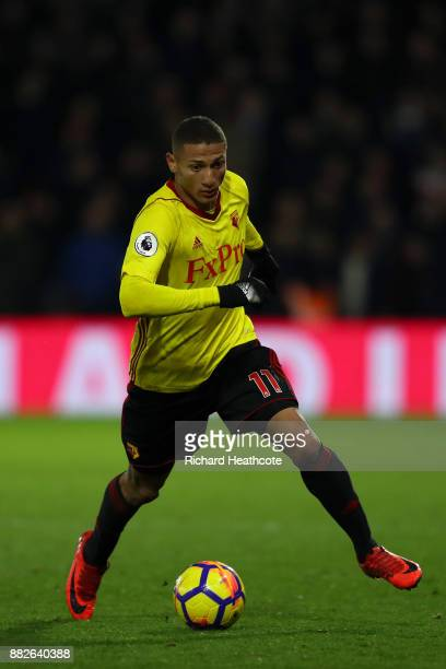 Richarlison of Watford during the Premier League match between Watford and Manchester United at Vicarage Road on November 28 2017 in Watford England