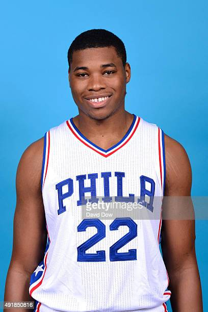 Richaun Holmes of the Philadelphia 76ers poses for a photo during media day on September 28 2015 in Galloway New Jersey NOTE TO USER User expressly...