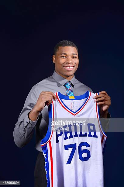 Richaun Holmes of the Philadelphia 76ers poses for a portrait after a press conference on June 27 2015 in Philadelphia PA NOTE TO USER User expressly...