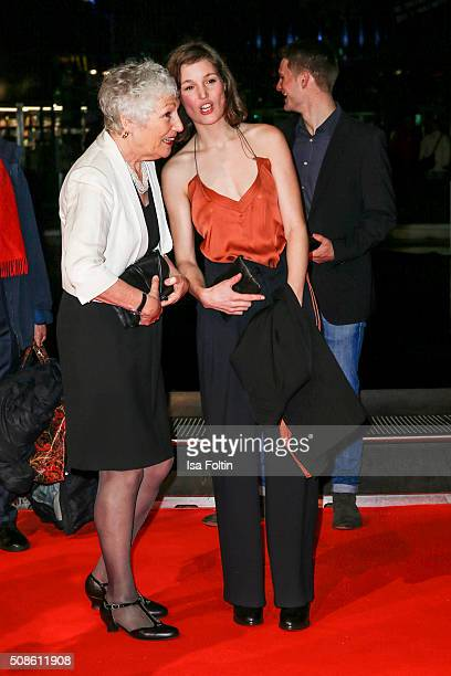 Richenda Carey and Vicky Krieps attend the 'Colonia Dignidad Es gibt kein zurueck' Berlin Premiere on February 05 2016 in Berlin Germany