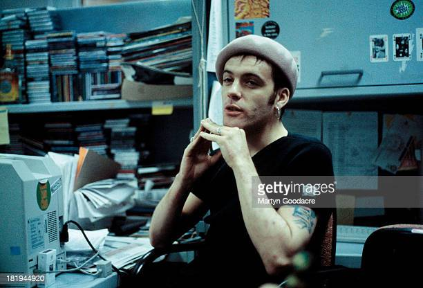 Richey Edwards of the Manic Street Preachers is interviewed in the offices of the NME London 1992