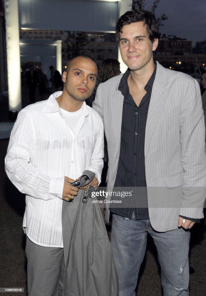 Richie Akiva and Scott Sartiano during Armani Exchange and Nylon Magazine present the Sunset Soiree at Pier 40 in New York City New York United States