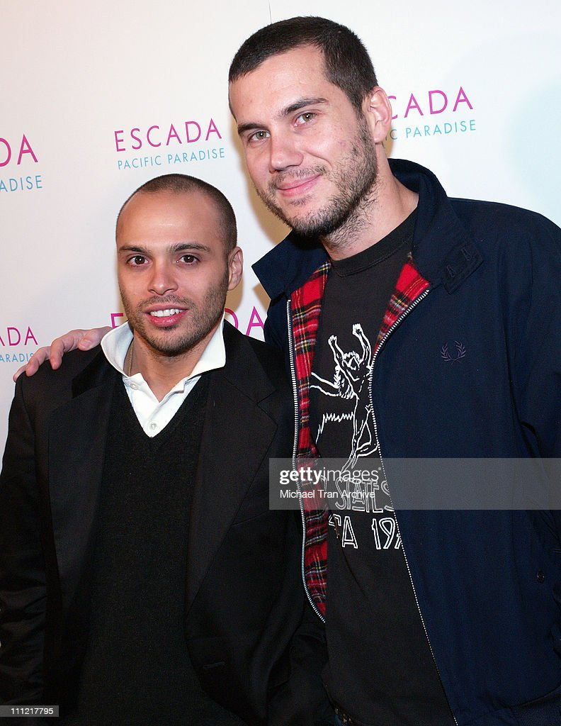 Richie Akiva and Scott Sartiano during Launch of Escada's Newest Scent 'Pacific Paradise' at Lobby in West Hollywood California United States