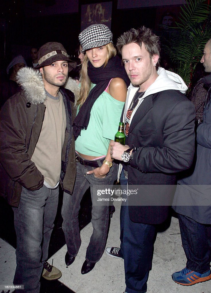 Richie Akiva Carmen Kass and Jamie McCarthy during Carmen Kass Hosts Kutty Kass' and Jamie McCarthy's 30th Birthday Party at Social Club in New York...