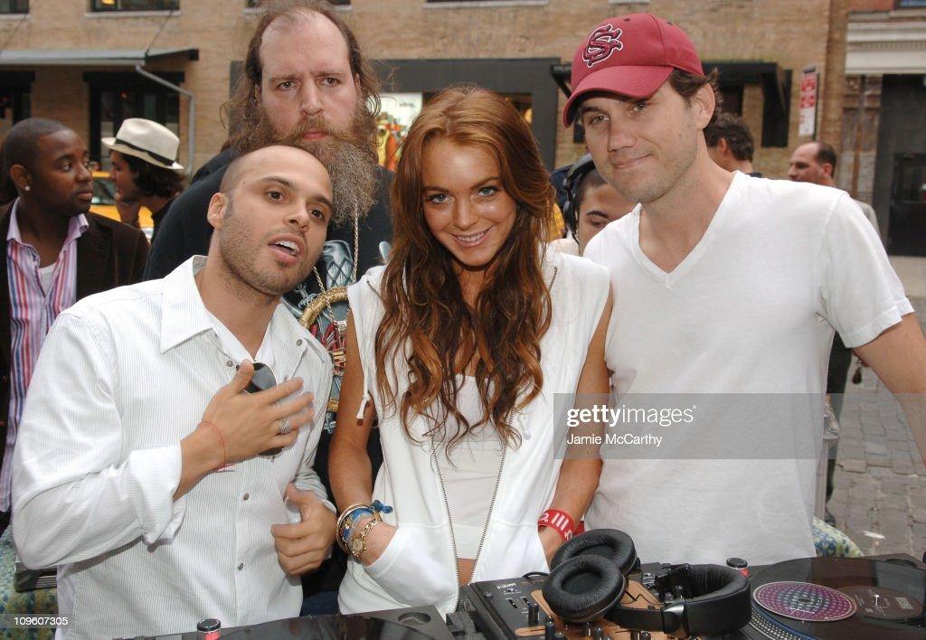 Richie Akiva Dj Uncle Mike Lindsay Lohan and Scott Sartiano