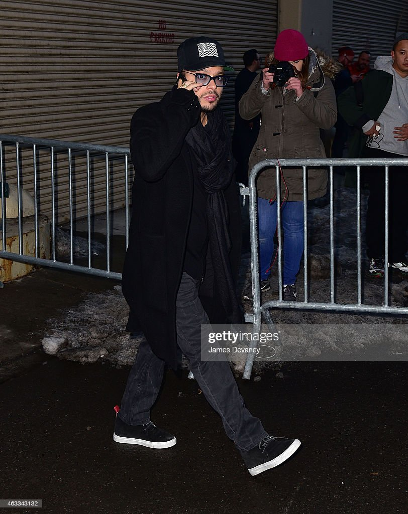 Richie Akiva leaves adidas Originals x Kanye West YEEZY SEASON 1 fashion show during New York Fashion Week Fall 2015 at Skylight Clarkson Sq on...