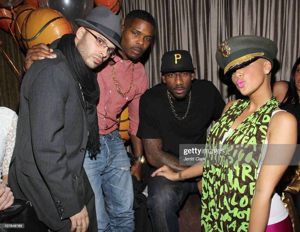 Richie Akiva T Millz New York Knicks' Amar'e Stoudemire and Amber Rose attend the LeBron James One of a Kind Night event at 1OAK on December 16 2010...