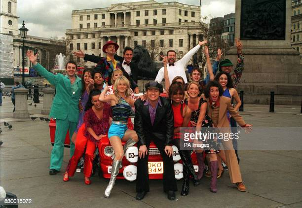 Richie AND A FELLOW CAST MEMBERS PROMOTE THE NEW MUSICAL 'BOOGIE NIGHTS' AT A PHOTOCALL IN LONDON'S TRAFALGAR SQUARE