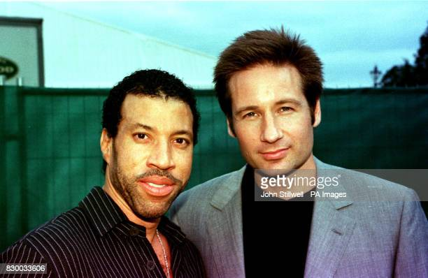 Richie AND AMERICAN ACTOR DAVID DUCHOVNY DURING THE PARTY IN THE PARK IN AID OF RGE PRINCE'S PARK